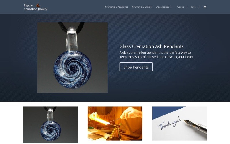 Psyche Cremation Jewelry